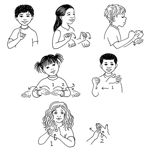 American Sign Language Line Drawings